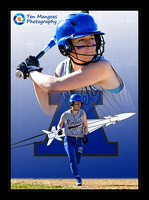 Softball Digital Sports Card